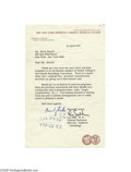 Autographs:Celebrities, Dr. Lee Salk 1975 Letter Signed on Cornell Letterhead...