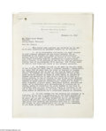 Autographs:Celebrities, Frank Lloyd Wright Contract With NBC Signed Three Times...