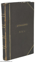 Autographs:Statesmen, Great Victorian New England Autograph Album From the Historic AldenFamily...