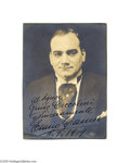 Autographs:Celebrities, Lovely Sepia Photo of Italian Tenor Enrico Caruso, Signed andInscribed by Him...