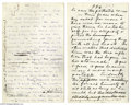 "Autographs:Celebrities, Samuel L. Clemens (Mark Twain) - Rare Autograph Manuscript from ""The Gilded Age""..."