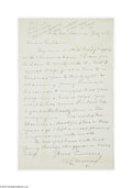 Autographs:Celebrities, Samuel Clemens (Mark Twain) Letter of Introduction...
