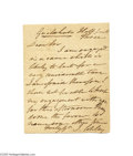 Autographs:Celebrities, Rare and Exhibitable Autographed Letter Signed by Artist John Singleton Copley...