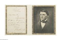 Autographs:Celebrities, Ralph Waldo Emerson...