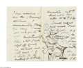 Autographs:Celebrities, Harry A. Furniss Signed Letter (1890)...