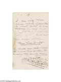 Autographs:Celebrities, Artist Winslow Homer 1907 Autograph Letter Signed...