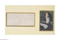 "Autographs:Statesmen, Julia Ward Howe Hand-Written Verse From ""Battle Hymn of theRepublic""..."