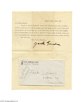 Autographs:Celebrities, Jack London Signed 1908 Letter From Tahiti...