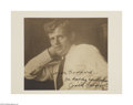 Autographs:Celebrities, Scarce Jack London Signed Photo...
