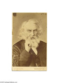 Autographs:Celebrities, Poet Henry W. Longfellow Portrait and 1874 Signature...