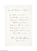Autographs:Celebrities, Henry W. Longfellow Hand-Written Quote...