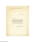 "Autographs:Celebrities, ""Grapes of Wrath"" Author John Steinbeck Signed Letter..."