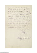 Autographs:Celebrities, James McNeill Whistler Letter With an Original Drawing by theArtist...