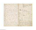 Autographs:Celebrities, William Butler Yeats Letter Concerning Upcoming Works...