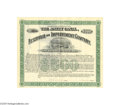 Autographs:Statesmen, Charles H. Dow of Dow Jones Twice-signed Stock Certificate...