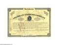 Autographs:Statesmen, James C. Fargo American Express Company Autographed Stock...