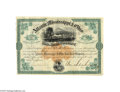 Autographs:Military Figures, Atlantic, Mississippi & Ohio Railroad Company Stock Certificate Signed by Civil War General William Mahone...