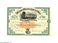 Autographs:Statesmen, Confederate General William Mahone Atlantic, Mississippi & OhioRailroad Autographed Stock...