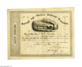 Autographs:Military Figures, Lawrence O'Bryan Branch Stock Certificate Signed...