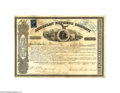 Autographs:Statesmen, 1863 American Express Stock Certificate Signed by the LegendaryWells and Fargo...