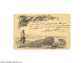 Autographs:Non-American, Frederic Auguste Bartholdi Replies to an Invitation, Using aPostcard Depicting Reproductions of his Works...