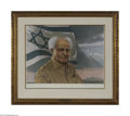 Autographs:Non-American, David Ben-Gurion Signed Limited Edition Lithograph...