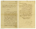 Autographs:Non-American, Anastasio Bustamante Manuscript Letter Signed as President of Mexico...