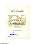 Autographs:Non-American, Fidel Castro Signs a Jose Marti Certificate for a Participant inthe Pan American Games...