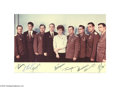Autographs:Non-American, Terrific Russian Cosmonauts Photo Signed by All...