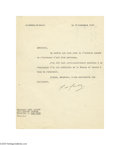 Autographs:Non-American, General Charles de Gaulle 1947 Typed Letter Signed...