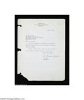 Autographs:Non-American, Andrei Gromyko Typed Letter as Soviet Ambassador to the UnitedStates...