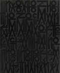 , RETNA (American, b. 1979). Conversation Piece, 2012.Acrylic, enamel, and crystalline on canvas. 96 x 80 inches (243.8x...