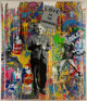Mr. Brainwash (French, b. 1966) Einstein (Love is the Answer), n.d. Acrylic and spray paint on canvas 84 x 72 inches