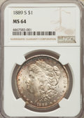 Morgan Dollars: , 1889-S $1 MS64 NGC. NGC Census: (1363/270). PCGS Population: (2393/843). CDN: $450 Whsle. Bid for problem-free NGC/PCGS MS6...
