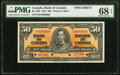 Canadian Currency, BC-26S $50 2.1.1937 Specimen PMG Superb Gem Unc 68 EPQ.. ...