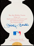 Autographs:Post Cards, Mickey Mantle Signed Christmas Card....