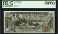 Large Size:Silver Certificates, Fr. 224 $1 1896 Silver Certificate PCGS Choice About New 58PPQ.. ...