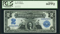 Large Size:Silver Certificates, Fr. 249 $2 1899 Silver Certificate PCGS Gem New 66PPQ.. ...