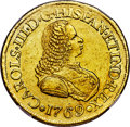 Colombia, Colombia: Charles III gold 8 Escudos 1769/67 PN-J AU53 NGC,...