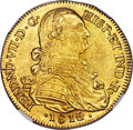 Colombia, Colombia: Ferdinand VII gold 8 Escudos 1815/4 NR-JF MS62 NGC,...