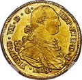 Colombia, Colombia: Ferdinand VII gold 8 Escudos 1818 P-FM MS62 NGC,...