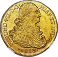 Colombia, Colombia: Ferdinand VII gold 8 Escudos 1813/2 NR-JF MS62 NGC,...