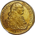 Colombia, Colombia: Ferdinand VII gold 8 Escudos 1812 NR-JF MS62 NGC,...
