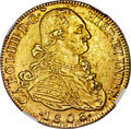 Colombia, Colombia: Charles IV gold 8 Escudos 1803/2 NR-JJ MS62 NGC,...