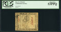 Colonial Notes:Continental Congress Issues, Continental Currency February 17, 1776 $1/2 PCGS About New 53PPQ.. ...