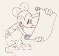 Animation Art:Production Drawing, Boat Builders Mickey Mouse Animation Drawing (Walt Disney,1938). ...