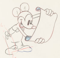 Boat Builders Mickey Mouse Animation Drawing (Walt Disney, 1938)