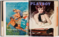 Magazines:Miscellaneous, Playboy Complete Year 1962 Bound Volume Group of 2 (HMH Publishing, 1962)....