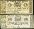 Obsoletes By State:Arkansas, (Little Rock), AR- State of Arkansas $1 (2) 1862-63 Cr. 30A; 34A Fine or better.. ... (Total: 2 notes)