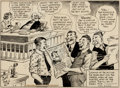 Original Comic Art:Comic Strip Art, Jimmy Hatlo They'll Do It Every Time Daily Comic Strip Original Art dated 7-3-36 (King Features Syndicate, 1936)....